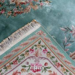 Grand Tapis Chinois Aubusson Tapis Savonnerie 371 X 276 CM Pile De Laine Épaisse