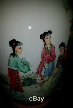 Grand Vase Antique Peint À La Main Famille Rose Chinois Peint A La Main 14x7inch