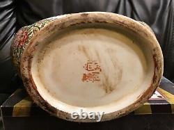 Grand Vase Chinois De Flacon De Lune Peint À La Main 14. Prix Inférieur