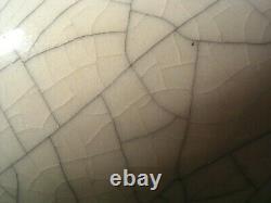 Grand Vase Chinois En Porcelaine Glacée Crépitant 15 38cm