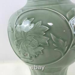 Grand Vase De Glaçure De Céladon De Porcelaine Chinoise 21.5 Grand