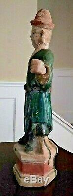 Grande Baie Vitrée De La Dynastie Ming Tombeau Figure Chine Circa 1368-1644