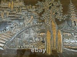 Grande Boîte De Couverture En Bois Sculpté De Camphor