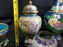 Grande Collection De Vintage Chinois Cloisonné