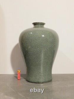 Grande Dynastie Vase Qing Vase Crackled Glaze Celadon Meiping