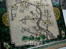 Grande Et Rare Porcelaine Chinoise Période Kangxi Wucai Socle 18thc
