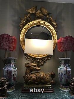 Grande Lampe De Table Italienne De Poterie En Céramique Vitrée Du Milieu Du Siècle