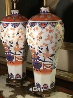 Grande Paire De Vintage Maitland & Smith Chinoiserie Porcelaine Chinoise Lampes 88 CM