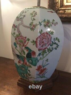 Grande Paire Vintage Porcelaine Lampes Chinoises