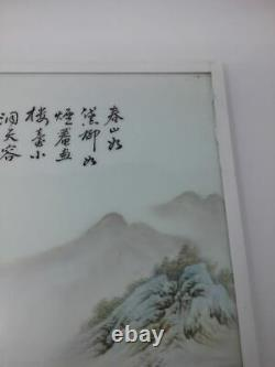 Grande Plaque Chinoise Antique De Porcelaine De Rose De Famille