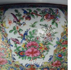 Grande Soupière Chinoise Avec Une Couverture Famille De Daoguang Rose Scènes Mandarin 36,5cm