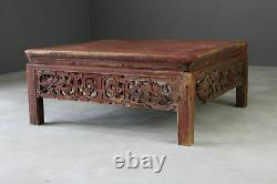 Grande Table Basse Carrée Chinoise
