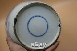 Grandes Figures Antiques En Porcelaine De Chine, Bleu Et Blanc