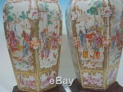 Grands Vases Anciens De Famille Rose, Chine, Époque Qianlong, 18ème Siècle