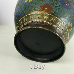 Grands Vases Vintage Cloisonnés Bronze Bronze