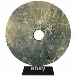 Important Ancient Chinese Large 14.75 Round Jade Bi Disc, 2000 Aec