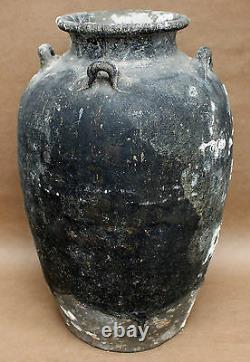 Naufrage 15ème 16ème Siècle Grand Pot De Stockage Oriental De Basalte