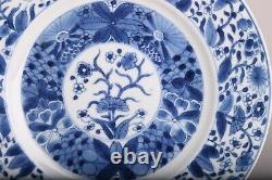 Nr1wonderfull And Large Kangxi Period Chinese Porcelain Plate 1662-1722 Fleurs