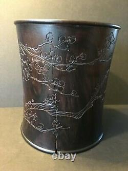 Old Grand Pot Chinois De Pinceau De Bois Franc De Zitan, Chen Xiang Mei Colletion