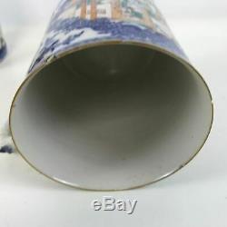 Paire De Grand 18ème Siècle Matching Porcelaine Chinoise D'exportation Tasses