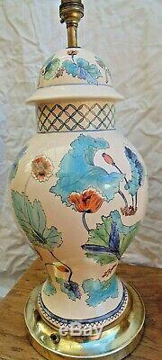 Paire De Grand Vintage Style Chinois En Porcelaine Lampes De Table Design -poppy