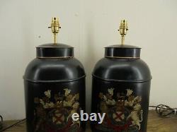 Paire De Grandes Lampes De Table De Caddy De Thé De Thé Chinois De Modèle De Thé