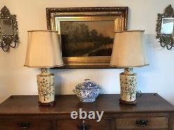 Paire Grandes Lampes Chinoises Vintage