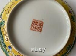 Porcelaine Chinoise Antique Large Dragon Rice Bowl & Cover