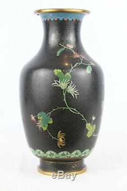 Qualité Excellent Grand Vase Chinois Cloisonné Avec Pivoine Flowers 9 Grand