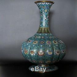 Rare! Grand Bol À Vase 16 Cloisonnés Marque De Cheng Fin De Période Qing / République 1