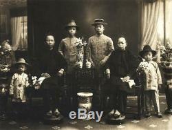 Rare Grand Crachoir Antique 19ème Siècle Chinois Famille Rose Canton Lignes Droites A / F