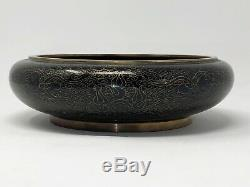 Rare Grande Dynastie Chinoise Des Ming Cloisonné Bowl With Dragons Circa 1368-1644