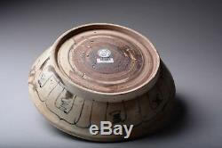 Rare Porcelaine Grande Plaque D'oiseaux Hoi An Chinois Shipwreck Cargo