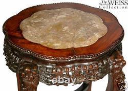 Table Latérale Chinoise D'exportation De Swc-grande Avec Le Marbre D'inset