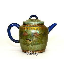 Théière En Céramique Émaillée, Grande, Yixing Zisha, Violet, Argile Pourpre