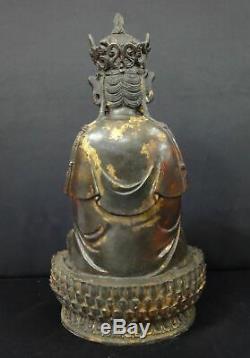Très Grand Vieux Chinois En Bronze Doré Guanyin Statue De Bouddha Bonne Qualité