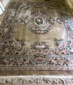Très Grande Énorme Laine De Tapis Anciens Tapis Chinois 376 X 278 CM Très Très Lourd