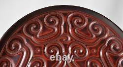 Une Antique Grande Plaque / Chargeur Laque De Chine