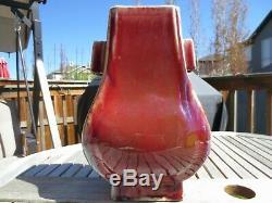 Une Grande Baie Vitrée Rouge Chinoise Vase En Porcelaine, Guangxu Mark Et La Période, 19