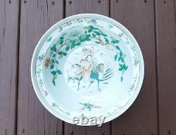 Une Grande Dynastie Chinoise Antique Qing Famille Rose Porcelaine Bowl Basin