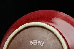 Une Grande Flambés Porcelaine Ancienne Chinoise Du 18ème Bol Lave Rouge / 19ème Siècle