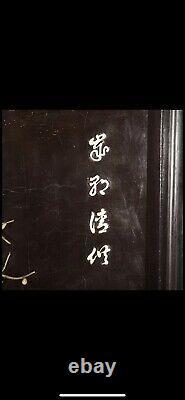 Une Paire De Grands Panneaux De Mur En Pierre Dure Laquée Chinois Boîtes D'ombre