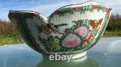 Vintage Décoratifs Chinois Grande Porcelaine Punch Bowl