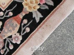 Vintage Hand Made Art Déco Chinese Carpet Beige Wool Large Rug Carpet 345x260cm