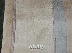 Vintage Hand Made Art Déco Chinese Pink Beige Wool Grand Tapis 305x245cm