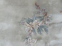 Vintage Hand Made Art Déco Chinois Tapis Laine Verte Grand Tapis Tapis 366x278cm