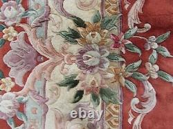 Vintage Hand Made Art Déco Chinois Tapis Rouge Laine Grand Tapis Tapis 375x277cm