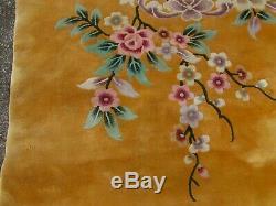Vintage Hand Made Laine Artdeco Oriental Chinois Or Grand 495x425cm Tapis