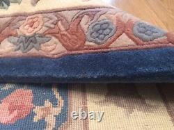 Vintage Rug Chinois Grande Laine Faite À La Main Pile Ancien Rectangle Style Antique